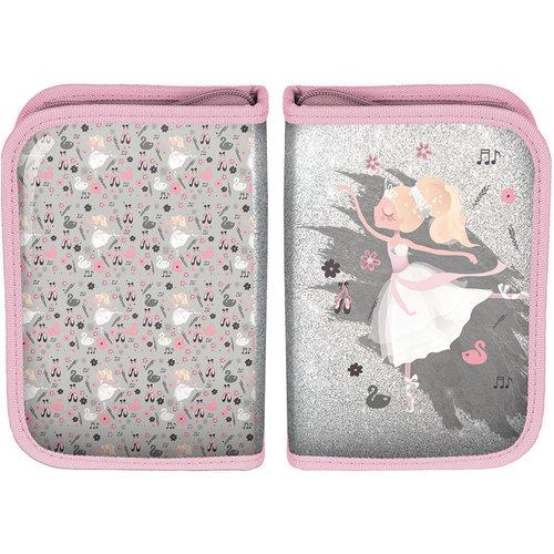 Ballerina Ballerina gevuld etui I love dance - 19.5 x 13 x 3.5 cm - Polyester  - Leverbaar in: 19,5x13x3,5