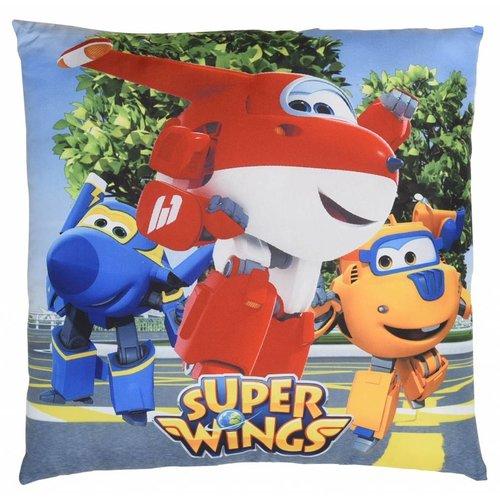 Super Wings Super Wings 3 hero's - Sierkussen - 40 x 40 cm - Multi