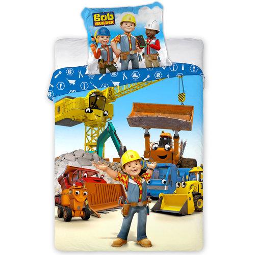 Bob de Bouwer Baby Dekbedovertrek Construction Zone - 100 x 135 cm - Katoen