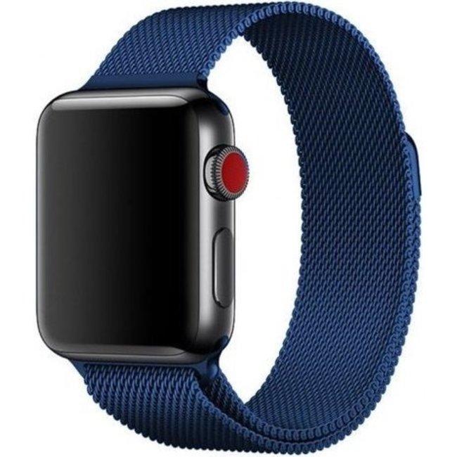 Apple watch banda milanese - blu