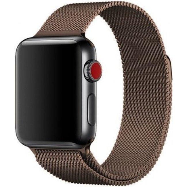 Apple watch banda milanese - marrone