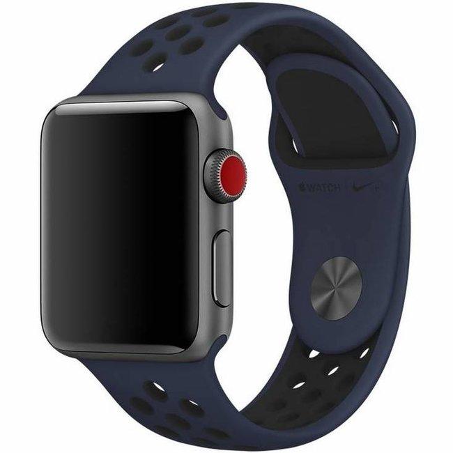 Apple watch doppia banda sportiva - mezzanotte blu nero