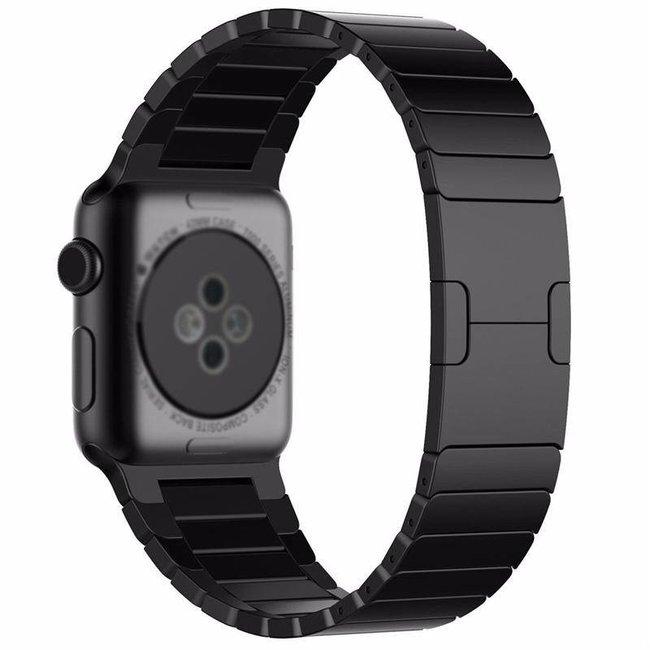Apple watch cinturino a maglie d'acciaio - nero