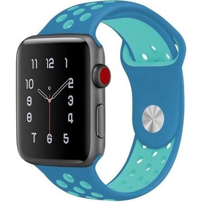 Apple watch doppia banda sportiva - blu chiaroblu