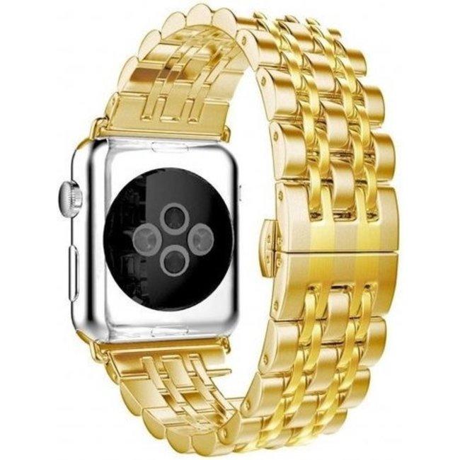 Apple watch cinturino a maglie in acciaio inossidabile - oro
