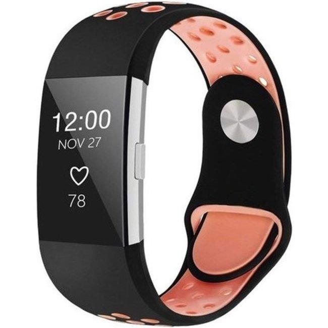 Fitbit charge 2 banda sportiva - nero rosa