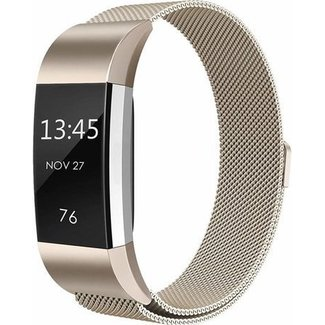 Marca 123watches Fitbit charge 2 banda milanese - champagne