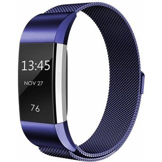 Fitbit charge 2 banda milanese - blu