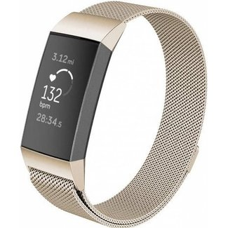 Marca 123watches Fitbit charge 3 & 4 banda milanese - champagne