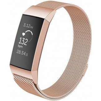 Marca 123watches Fitbit charge 3 & 4 banda milanese - rosa oro