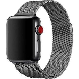 Marca 123watches Apple watch banda milanese - gun nero