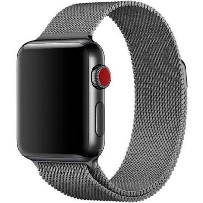 Apple watch banda milanese - gun nero