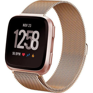 Marca 123watches Fitbit versa banda milanese - rosa oro