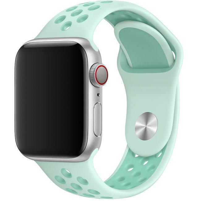 Apple watch doppia banda sportiva - verdeblu tinta tocco tropicalee