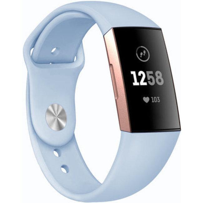 Fitbit charge 3 & 4 fascia in silicone per lo sport - chiaroblu