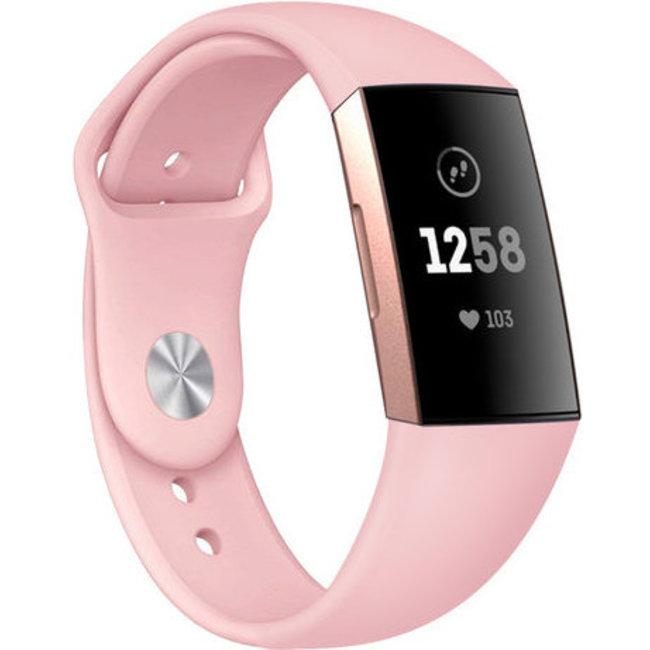 Fitbit charge 3 & 4 fascia in silicone per lo sport - rosa