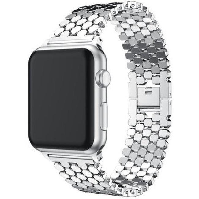 Apple watch pesce cinturino a maglie d'acciaio - argento