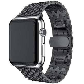 Apple watch cinturino a maglie in acciaio dragon - nero
