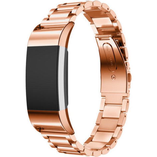 Fitbit charge 2 tre perline cinturino in acciaio - rosa oro
