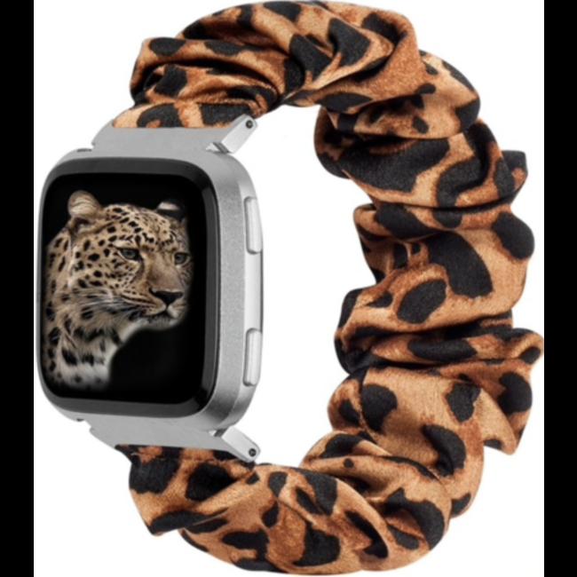 Fitbit Versa band scrunchie - pantera marrone