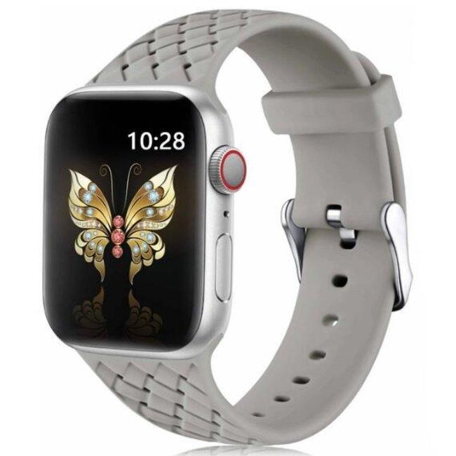 Apple watch banda di silicone intrecciata - grigio