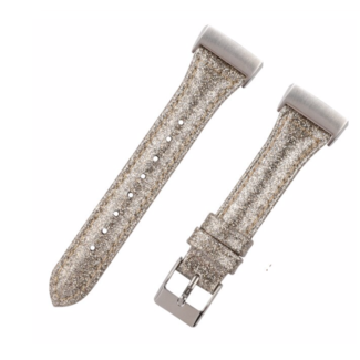 Fitbit Charge 3 & 4 fascia in pelle glitterata - oro