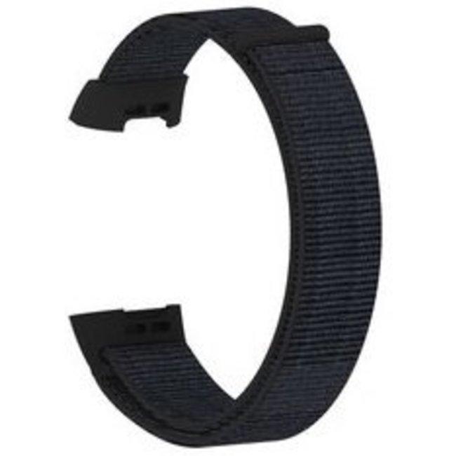 Fitbit charge 3 & 4 nylon banda sportiva - nero sabbia