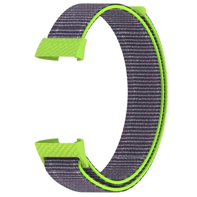 Fitbit charge 3 & 4 nylon banda sportiva - intenso giallo