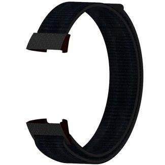 Marca 123watches Fitbit charge 3 & 4 nylon banda sportiva - scuronero