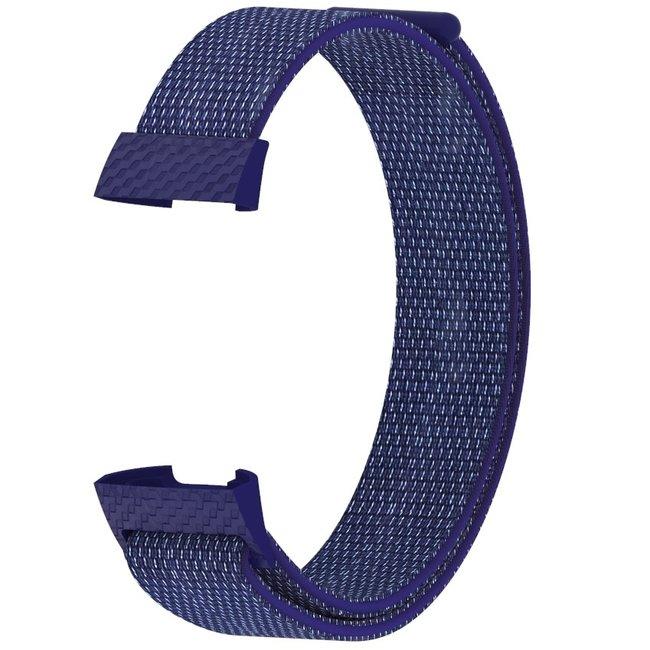 Fitbit charge 3 & 4 nylon banda sportiva - indaco