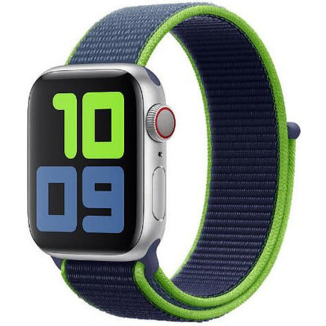 Apple watch tapis roulant sportivo in nylon - neon calce