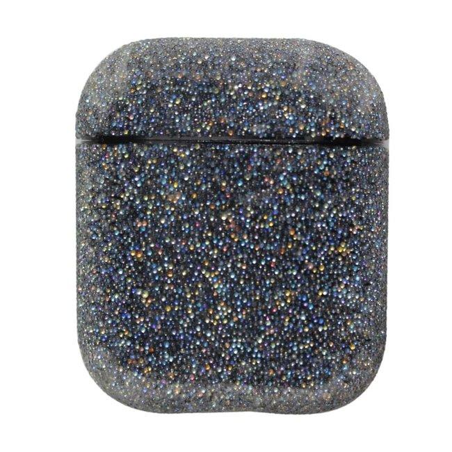 Custodia rigida glitterata Apple AirPods 1 & 2 - nero