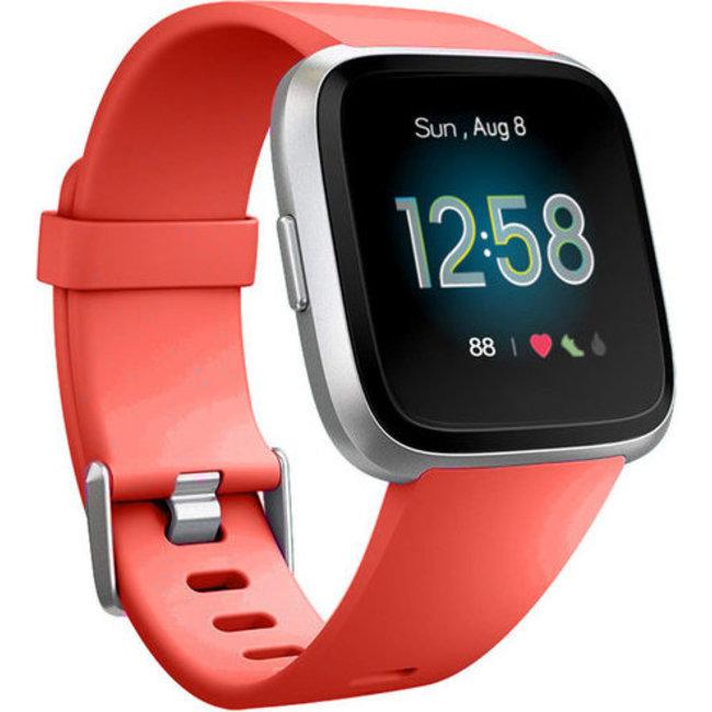Fitbit versa banda sportiva - arancione rosso