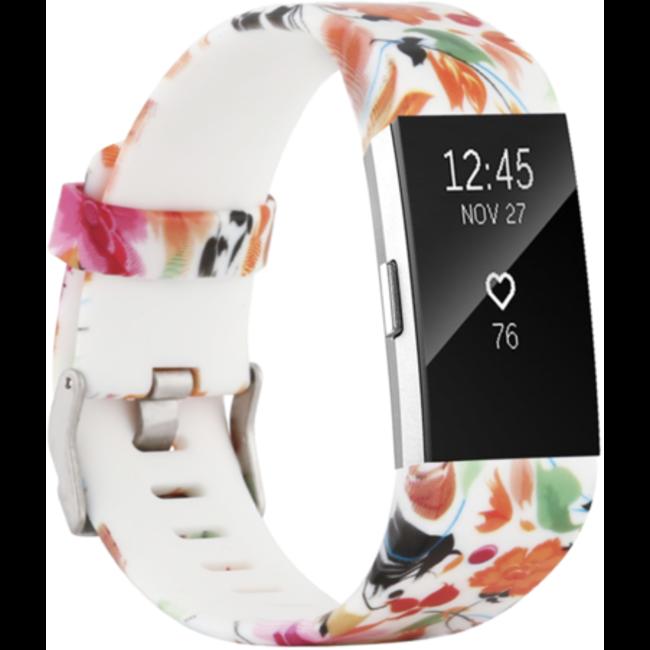 Fitbit charge 2 stampa banda sportiva - fiori mix
