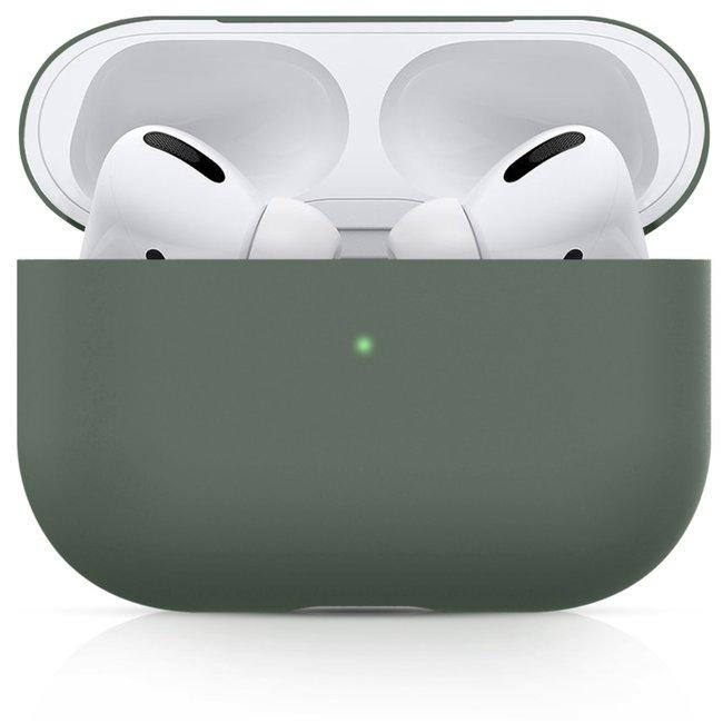 Custodia morbida semplice Apple AirPods PRO - grigio verde