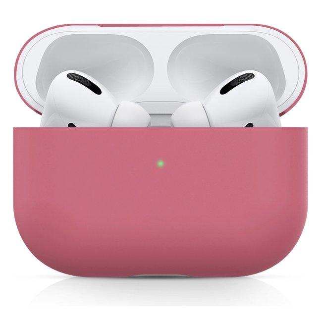 Custodia morbida semplice Apple AirPods PRO - rosa rosso