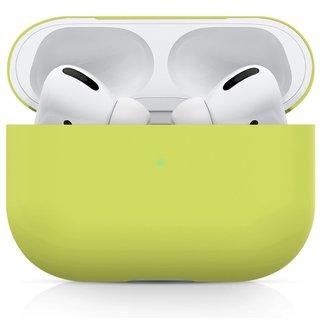 Custodia morbida semplice Apple AirPods PRO - giallo lime