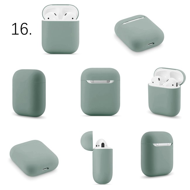 Custodia morbida Apple AirPods 1 & 2 solido - grigio verde