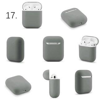 Marca 123watches Custodia morbida Apple AirPods 1 & 2 solido - grigio