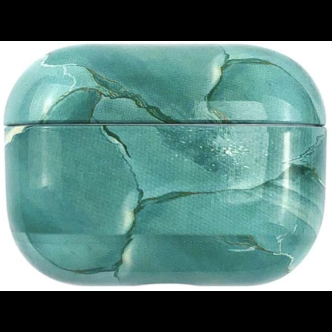 Custodia rigida in marmo Apple AirPods PRO - turchese