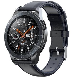 Marca 123watches Garmin Vivoactive / Vivomove cinturino in pelle - scuroblu
