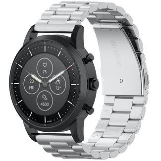 Marca 123watches Samsung Galaxy Watch banda di tre perline di collegamento in acciaio - argento