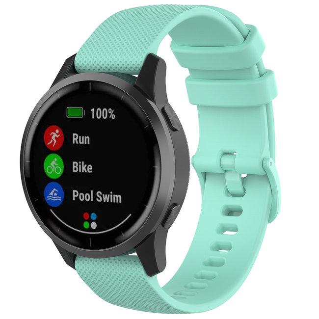 Samsung Galaxy Watch cinturino con fibbia in silicone - tahoe blu