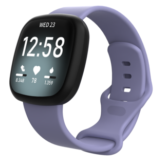 Marca 123watches Fitbit Versa 3 / Sense banda sportiva - viola