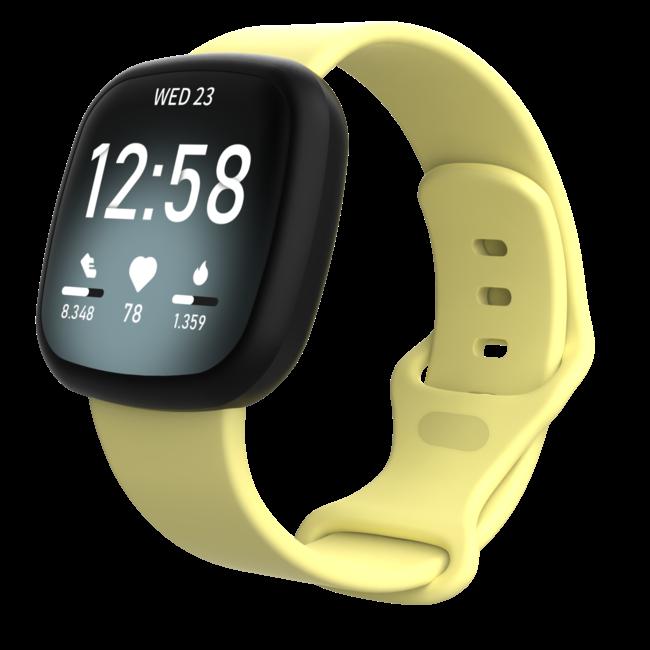 Fitbit Versa 3 / Sense banda sportiva - giallo
