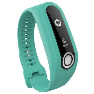 Marca 123watches TomTom Touch cinturino con fibbia in silicone - verdeblu