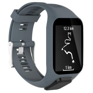 Marca 123watches TomTom Runner / Spark / Adventure cinturino con fibbia in silicone - grigio