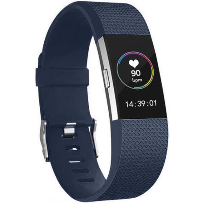 Marca 123watches Fitbit charge 2 banda sportiva - mezzanotte blu