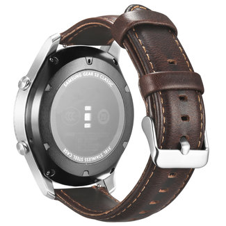 Marca 123watches Huawei watch GT cinturino in vera pelle - scuro marrone
