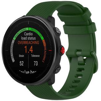 Marca 123watches Polar Vantage M / Grit X cinturino con fibbia in silicone - verde